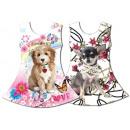 Kinder Mädchen  Trend Kleid Hund Puppy Welpe