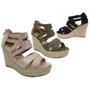 Ladies Woman Summer Espadrilles Wedge Sandal