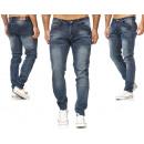Jeans tendance pour hommes Vintage Look vieilli Sl