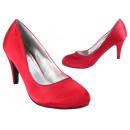 Dames Dames Trend pumps satijn Look schoenen