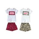 Großhandel Sportbekleidung: Kinder Freizeit Anzug 2er Set Leopard Leo Muster