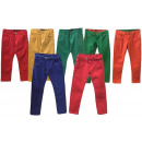 Mix post children girl boy pants with belt