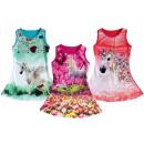 Großhandel Kinder- und Babybekleidung: Kinder Mädchen Kleid Einhorn Unicorn Pferd 2-12