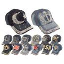 Basecap Cap Caps Cap Rhinestone Jeans Trucker Unis