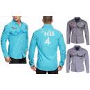 Großhandel Hemden & Blusen: Hochwertiges Herren Hemd Casual Slim Fit Poloshirt