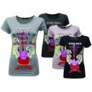 Großhandel Röcke: Damen Women Biker  Rock Star Shirt T-Shirts Shirts