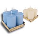 Großhandel Kerzen & Kerzenhalter: Stumpenkerze Kerze  Design Kerzen 4er Pack Candle