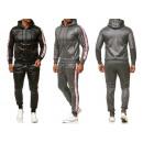 Men's trend jogging suit gloss sports suit hoo