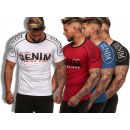 Men's Men's Trend T-Shirt Denim Shirt Roun