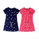 Kids trend girl dress pattern star 2-12