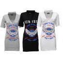 Női Női hosszú ing póló ing V-nyakú