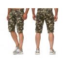 grossiste Shorts et pantacourts: Capri Pantalons Homme Capri Bermuda Camouflage ...