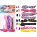 Paracord Set 3 bands, 3 click buckles bracelet
