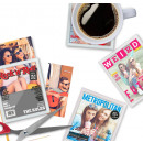 wholesale Drinking Glasses: VIP coasters made of glass