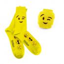 wholesale Stockings & Socks:Emoji socks - Wink