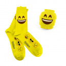 wholesale Stockings & Socks:Emoji socks - Laughing