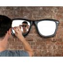 grossiste Miroirs: Hipster Lunettes Mirror, Noir