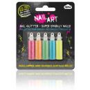 grossiste Maquillage: Nail Art Glitter 5pk électrique