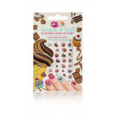 wholesale Nail Varnish: Scratch &  Sniff Chocolate Nail Stickers