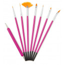 wholesale Nail Varnish:Nail Art Brush 8 Pk