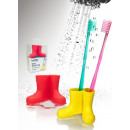 wholesale Dental Care: Wellies  toothbrushes holder, red