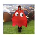 wholesale Coats & Jackets: Retro Arcade Poncho / Rain Cape - Red