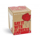 Großhandel Geschenkartikel: Grow Me Lass Blumen sprechen, Rosen Geschenkbox