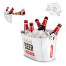groothandel Keukenhulp: Metalen emmer bier  koeler met flesopener
