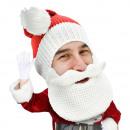 Santa Beard Head Santa Hat with Beard