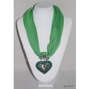 grossiste Décoration: FOULARD pendentif coeur COLLIER
