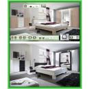 Schlafzimmer-Kleiderschrank-Bett-Herrenkommode