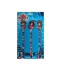 wholesale Business Equipment: Set of 3 Pencils  with Eraser Paper Bakugan