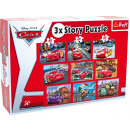 Puzzel 'Cars' story 3 in 1