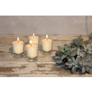 wholesale Drinking Glasses: Feng Shui NUANCE candle ca.6 cm, set of 4, IVORY