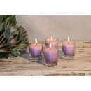 wholesale Drinking Glasses: Feng Shui NUANCE candle about 6 cm, set of 4, VIOL