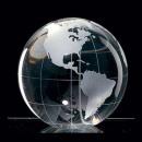 Globe en verre cristal terre