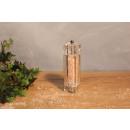 Salzmühle Eckig, gefüllt mit Kristallsalz, 80 g