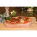 Ovale BBQ-Platte, in neutraler Box