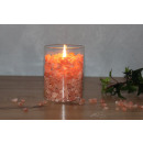 FIRE in GLASS, small, with PALM LIGHT candle