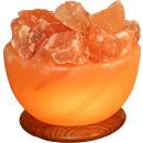 Beleuchtete Salzkristallschale RUND ca. 2,0 kg