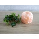 Salzkristall Teelichthalter ROCK, ca. 700 g