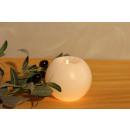 Salzkristall Teelichthalter RUND White Line