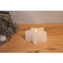Photophore à bougies en cristal de sel STERN White