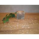 Salzkristall Teelichthalter KUBUS Grey Line
