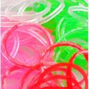 Großhandel Zubehör & Ersatzteile: farbige  Gummibänder leuchten im dunkeln