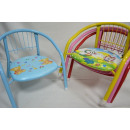 Children chair with backrest and print