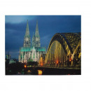wholesale Pictures & Frames: Backlit screen image of Cologne Cathedral