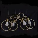 Großhandel Fahrräder & Zubehör: Hängelampe mit 4 Leuchten Fahrradform