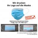 Beschermend masker mondmasker met logo, 1-pack