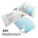 Großhandel Drogerie & Kosmetik: Medizinischer Mundschutz Mundmaske 10er, ...